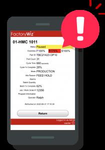 FactoryWiz Machine Alerts